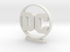 DC Logo in White Natural Versatile Plastic