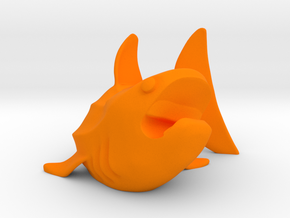Whale Shark Cord Holder in Orange Processed Versatile Plastic