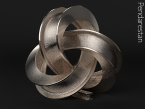 Girder Trefoil Knot in Polished Nickel Steel: Small
