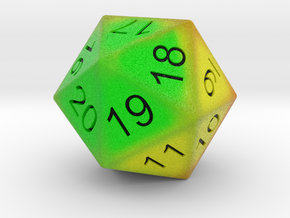 HP Bar heat signature 20 sided countdown dice  in Full Color Sandstone