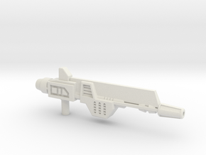 Plasma Pulse Gun for TR Broadside in White Natural Versatile Plastic