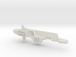 Plasma Pulse Gun for TR Broadside in White Natural Versatile Plastic