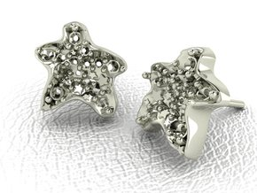 Starfish Earrings NO STONES SUPPLIED in 14k White Gold