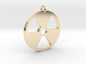 Radioactive Pendant in 14k Gold Plated Brass