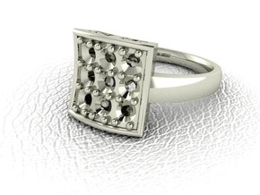 Fancy dress ring NO STONES SUPPLIED in 14k White Gold