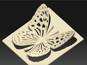 Butterfly in White Natural Versatile Plastic