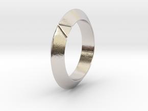 Cleo - Deltamond Ring in Rhodium Plated Brass: 6 / 51.5
