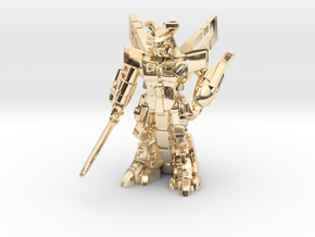 Waruder BlueStar, Battle Ready, 35mm Mini in 14K Yellow Gold: Large