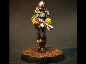 28mm Female Cyborg in Black Hi-Def Acrylate