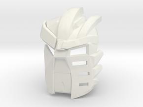 Kanohi Kraahvohkii - [2nd Epic Edition] in White Natural Versatile Plastic