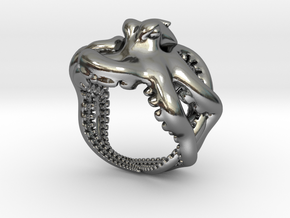 Octopus Ring2 21mm in Polished Silver