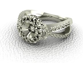 Fancy Halo 2 NO STONES SUPPLIED in 14k White Gold