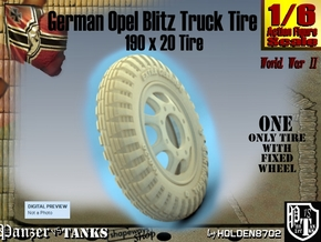 1-6 Opel Blitz Tire 190x20 in White Natural Versatile Plastic