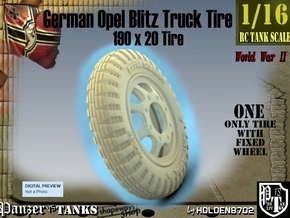 1-16 Opel Blitz Tire 190x20 in White Natural Versatile Plastic