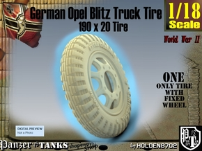 1-18 Opel Blitz Tire 190x20 in White Natural Versatile Plastic