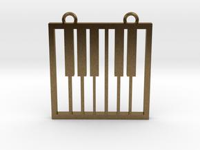Music Pendant -  Piano Keys in Natural Bronze