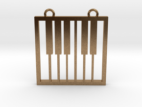 Music Pendant -  Piano Keys in Natural Brass
