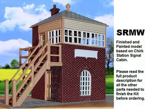 Chirk Signal Cabin Part 2 in White Natural Versatile Plastic