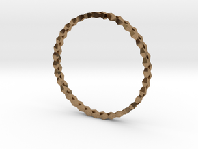 Spirală Bangle in Natural Brass: Small