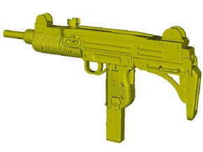 1/24 scale IMI Uzi submachinegun x 1 in Smooth Fine Detail Plastic