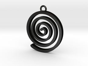 Spiral Pendant in Matte Black Steel