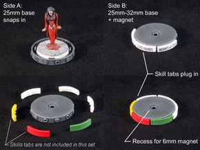 Fantasy Football Bases in White Strong & Flexible Polished: Medium