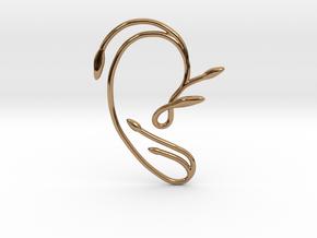 Ear Cuff of Belle (Right Ear) in Polished Brass