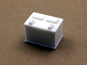 12-volt Battery in White Natural Versatile Plastic: 1:10
