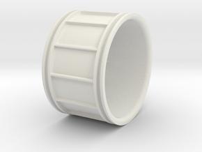 Multispoke Racing Wheel Medium in White Natural Versatile Plastic