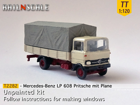 Mercedes-Benz LP 608 Pritsche mit Plane (TT 1:120) in Smooth Fine Detail Plastic