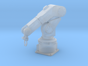 1/24 Robotic Arm Solid Round in Smoothest Fine Detail Plastic