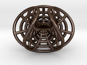 Enneper's mesh, steel in Polished Bronze Steel