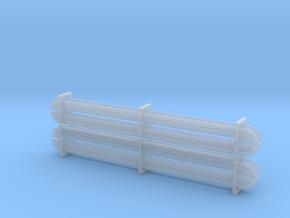 Nieten- und Schraubenreihen (8 Stück) in Smoothest Fine Detail Plastic