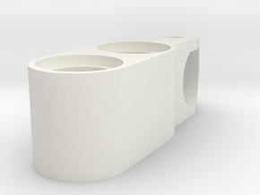 2l beam with tow ball socket in White Natural Versatile Plastic