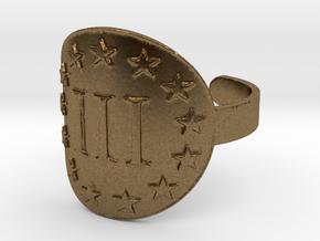 AP III% 3 Percenter Ring Size 11 in Natural Bronze