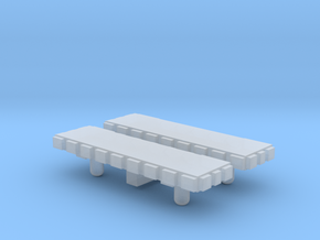 Light Bar - Square 1-87 HO Scale (2 Pack) in Smooth Fine Detail Plastic