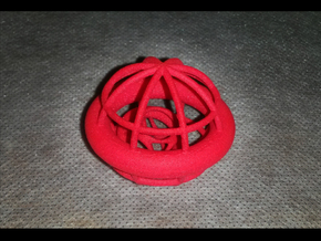 Gyrocage in Red Processed Versatile Plastic