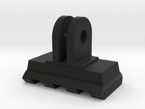 Picatinny Rail to GoPro Mount Adapter (Side Tiltin in Black Natural Versatile Plastic