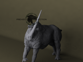 Elasmotherium in White Strong & Flexible: Medium