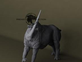 Elasmotherium in White Natural Versatile Plastic: Medium