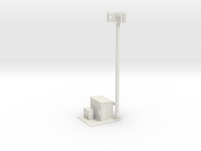 Cell Tower Site 1-87 HO Scale in White Natural Versatile Plastic