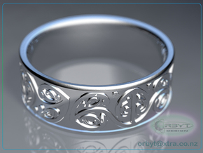 Koru Ring - US size 10 (19.9mm) in Polished Silver