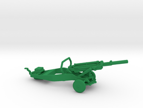 1/87 Scale M102 105mm Gun in Green Strong & Flexible Polished