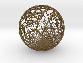 Grid Bulb II in Natural Bronze