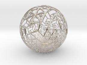 Grid Bulb II in Rhodium Plated Brass