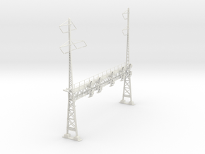 HO Scale PRR W-signal LATTICE 6 Track  W 2-3 PHASE in White Natural Versatile Plastic