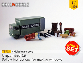 BONUS SET Möbeltransport (TT 1:120) in Smooth Fine Detail Plastic