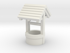 N/OO Scale Water Well in White Natural Versatile Plastic: 1:76 - OO