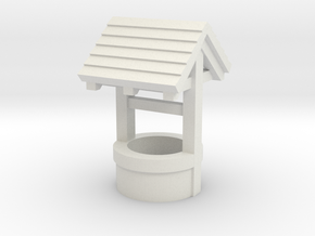 N/OO Scale Water Well in White Natural Versatile Plastic: 1:160 - N