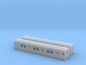 DR ET/EB 165 beiwagen  TT [2x body] in Smooth Fine Detail Plastic